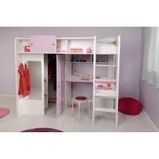lit armoire bureau lit mezzanine enfant avec une grande armoire et un bureau très prat