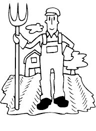 farm coloring pages images family jobs coloring sheets