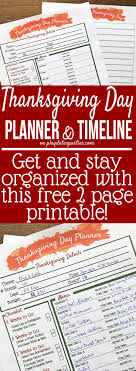 your all in one printable thanksgiving dinner planner