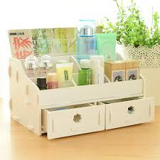 Desk Storage Organizers Wood Drawer Jewelry Box Desk Storage Boxes Cosmetic Organizer