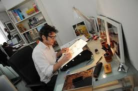 bureau dessinateur bureau dessinateur atelier illustrateur