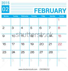 january 2015 calendar vector design template stock vector