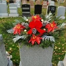 headstone decorations winter headstone saddle seven florist cicero in 46034