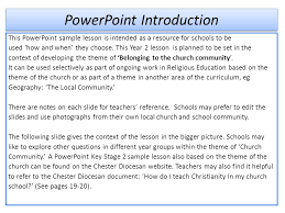 powerpoint introduction this powerpoint sample lesson is intended
