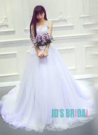 purple white wedding dress jw16191 top colored lilac purple with white wedding prom dress