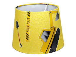 digger construction lampshade or ceiling light shade 9 5