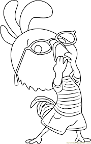 chicken little funny coloring page free chicken little coloring