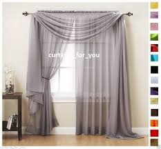 Scarf Curtains Voile Curtains Scarf Pelmet Valance 17 Colours Amazing For You