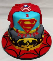 boys cakes 1 super heroes