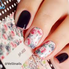 bp w03 flower leaves nail art water decals transfer stickers by