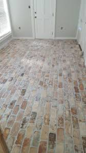 Tile For Kitchen Floor by Best 25 Brick Floor Kitchen Ideas On Pinterest Wood Cabinets
