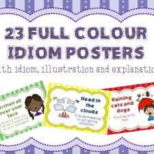 idiom posters teacha