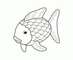 rainbow fish template kids coloring