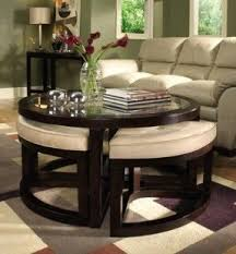 sofa table chair coffee table with nesting ottomans foter