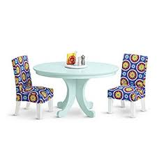 american doll table and chairs amazon com american duo my ag dining table chairs and table