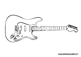 fender stratocaster coloring page sketch coloring page