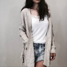 baggy sweaters brand oatmeal twist baggy sweater cardigan from woowaa s