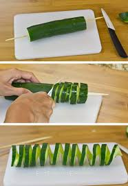 Vegetable Decoration Videos 3 Fun U0026 Easy Ways To Cut A Cucumber Cucumber Tutorials And Shorts