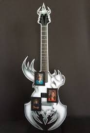 shredded mylar 21 foamcore guitar that is freestanding for 2017 graduate