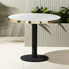 Narrow Bistro Table Unique Modern Dining Tables Cb2