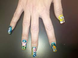 spongebob squarepants nail art gallery