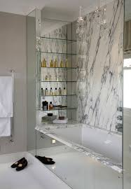 Contemporary Bathroom Shelves Entranching Bathroom 23 Shelf Designs Decorating Ideas Design