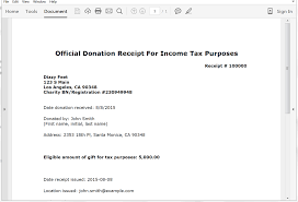Contribution Letter Sample Create Donation Tax Receipts From Salesforce Webmerge