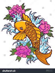 tattoo koi design stock vector 79537951 shutterstock