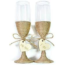 wedding glasses rustic wedding toasting glasses with twine rustic