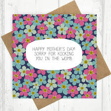 sorry for kicking you in the womb card by paper plane