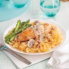 cuisine au vin blanc poitrines de poulet au vin blanc et chignons recettes