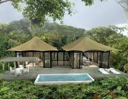 luxury tents swim up bar and spring plunge pools added to