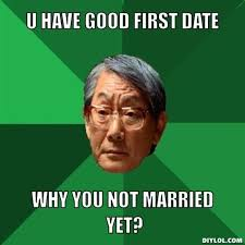 First Date Meme - first date venues iblogforcupid