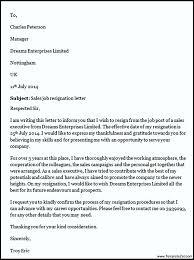 job resignation letter resume examples templates sample