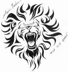 black and tribal leo design