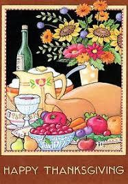engelbreit happy thanksgiving feast cherry thanksgiving card