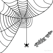 Printable Spiders Free Templates For Spider Witch Hat Black Cat Spider Web Coloring Page