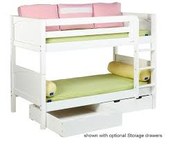 Maxtrix Low Bunk Bed With Curtains Bed Frames Maxtrix Furniture - Low bunk beds