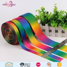 china wholesale ombre satin ribbon gift rainbow ribbon