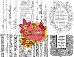 20 bible verse coloring pages pack 2 instant by bibleversecoloring