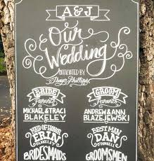 chalkboard wedding program chalkboard sign wedding custom made ceremony program