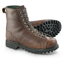 guide gear men u0027s waterproof insulated leather lace to toe hunting