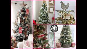 rustic and farmhouse christmas tree decoration ideas youtube