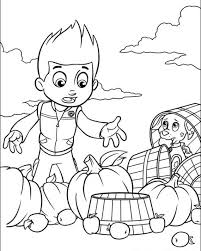 paw patrol preschool coloring pages print 63614
