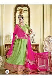 and pista green color soft net designer lehenga choli