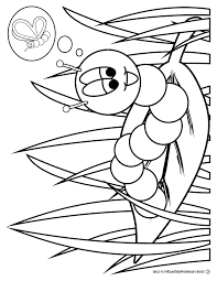 caterpillar butterfly coloring page free download