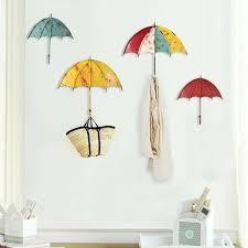 colorful umbrella wall hanging decorations key hair pin holder