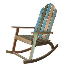 Wooden Rocking Chair Outdoor Recycled Wood Rocking Chair Calanque Maisons Du Monde