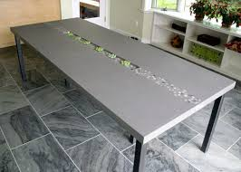 diy concrete table top concrete tabletops concrete table top with inlaid stones and an