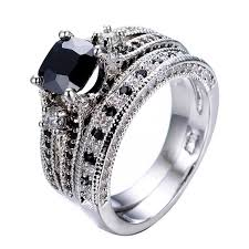 black diamond promise ring gorgeous black sapphire diamond promise rings set for couples